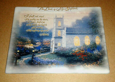 """Thomas Kinkade """"Blossom Hill Church"""" Plate ~ Prayers For Our Family Collection"""