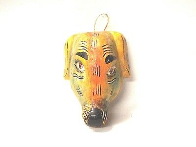 Small wooden Golden Retriever Dog face mask - Mexican Folk Art Guerrero