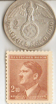 *-smal  LOT of  WW2 - *us  and  *german  Stamps  and  COINS