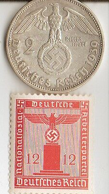 -*smal  Lot of  WW2 - *us and *german  Stamps and COINS +