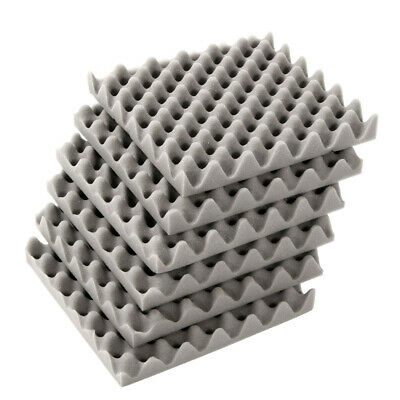 [NEW] 6Pcs 30x30x4cm Acoustic Soundproofing Foam Tiles Convoluted Egg Studio Sou