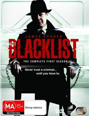 The Blacklist : Season 1 (DVD, 2014, 6-Disc Set) Brand New and Sealed