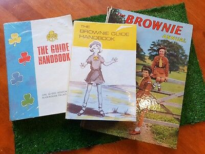 Vintage Girl Brownies Guides:  Book Lot c1960s