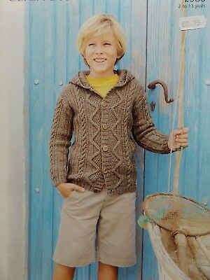Stylecraft Life DK Childs Cabled Hooded Cardigan Knitting Kit