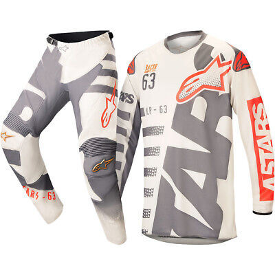 Alpinestars NEW Mx 2018 LE Racer Black Jack MEC Sand Grey Motocross Gear Set