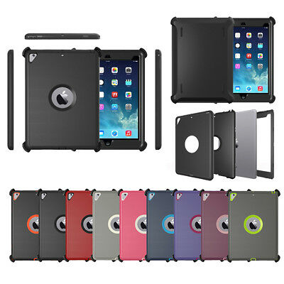 For iPad Defender Series Protection Case (Black Shield Stand Fits for Otterbox)