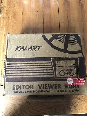 Kalart Editor Viewer Eight for all 8mm Movies Colour & Black & White