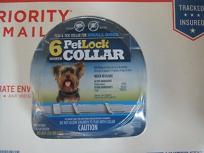 Petlock Flea & Tick Collar For Small Dog~6 Month Protection