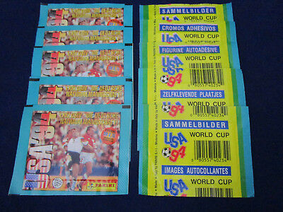 Panini WM WK WC 1994 USA 94, dt./German version, 10 packets/Tüten/bustine, VGC