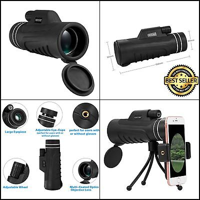 New Occer 10X42 High Power Waterproof  Monocular Telescope HD Dual Focus Scope