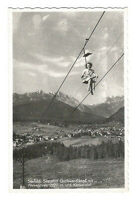 Postcard Seefeld Sessellift chairlift Austria unposted  (E1)