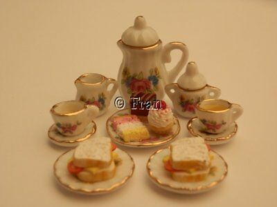 Dolls house food: Summer afternoon tea for two   -By Fran