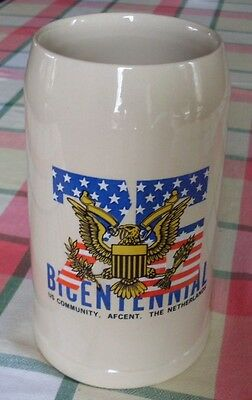 Grande chope de 1 litre « Bicentennial – US Community, Afcent, The Netherlands »