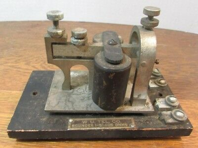 W.U. Tel. Co. Telegraph SOUNDER 1-B 400 or 100 OHMS JH BUNNELL CO NEW YORK USA