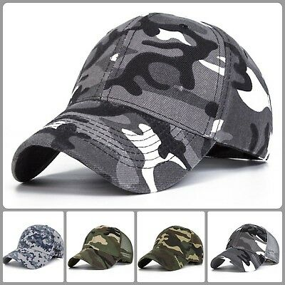 Baseball Cap Man Mesh Camouflage Hat Fishing Dad Gift Army Snap Back Adjustable
