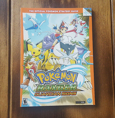 Pokemon Ranger: Guardian Signs Official Strategy Guide - with poster map