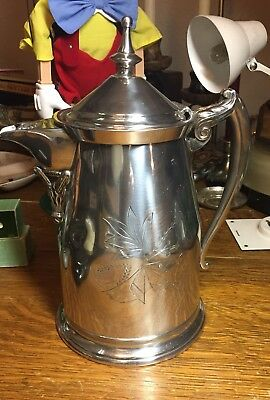 1868 Silver Pitcher Coffee Pot Tea Antique Civil War Era Gone With The Wind