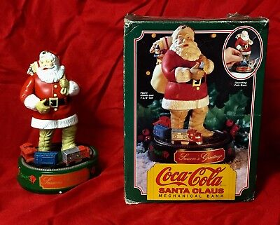 Coca Cola Santa Claus Mechanical Bank from ERTL 1st in series 1993 metal