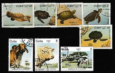 8CUBA, Lot Animals, Tiere , turtles, CTO