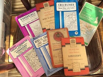 Job Lot Of Old Road Maps,1946-1951 & Others