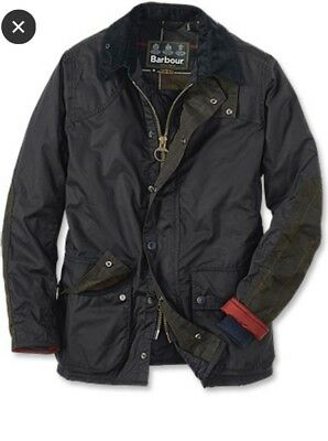 Barbour Digby Waxed Cotton Jacket Size M Navy