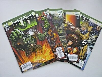 World War Hulk 1, 2, 3, 4, 5 2007 Marvel Comics Full Set