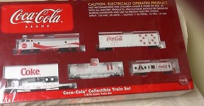 Coca Cola Collectible Electric Train Set 1/87Th Scale New Factory Sealed Rare