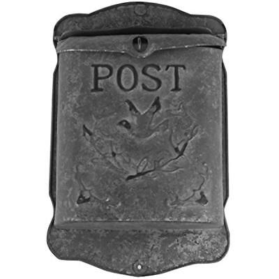 Rustic Galvanized Mailboxes & Accessories Metal Post MailBox - Country Style