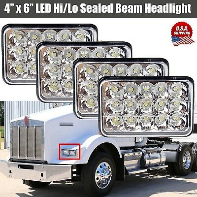 4x6'' inch LED Headlight Rectangle Sealed Beam Hi/Lo Assembly for Kenworth T800