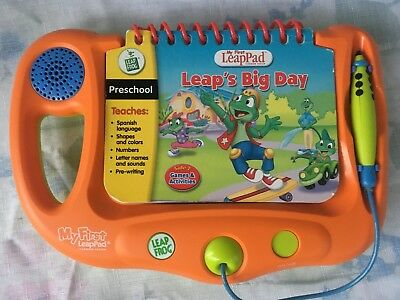 "Leap Pad Frog My First LeapPad Orange Learning System with ""Leap's Big Day"""
