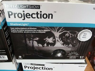 Gemmy Lightshow LED Rotating Halloween Shadow Projection Light Witches Ghost Bat