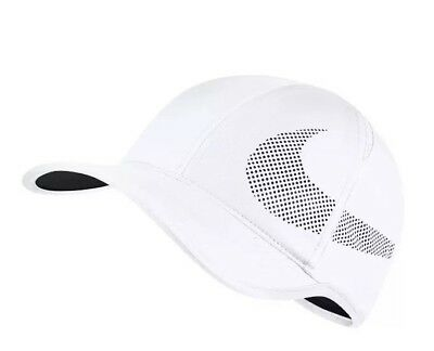 Nike Adult NikeCourt AeroBill Featherlight Tennis White Black 840455-100 4988e025d189