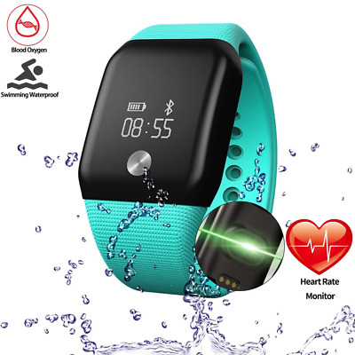 Getfitsoo Smart Bracelet Watch, Swimming Waterproof Fitness Tracker with Heart R