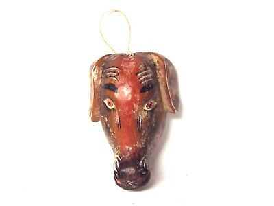 Wooden Saluki  Dog face mask - Mexican Folk Art Guerrero - Dog Lovers Gifts