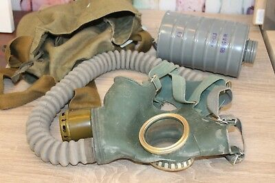 Vintage GAS MASK Soviet Union/Cold War Collectible /Military Home Decor USSR era