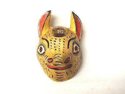 Wooden Squirrel face mask - Mexican Folk Art Guerrero - Wall Decor