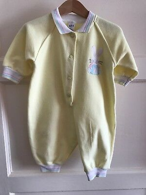 Vintage Bhs Unisex Neutral Romper Playsuit All In One 3-6 Months 68cm