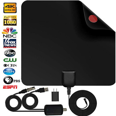 TV Antenna Digital HD 50 Mile Range VHF UHF Indoor 1080P 4K DVB-T2 Antenna NEW