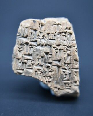 Rare ancient early form of writing clay tablet C. 2200 - 1800 BC