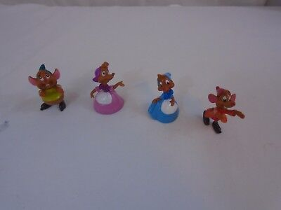 Cinderella Mice figures Lot of 4 (cake Toppers)