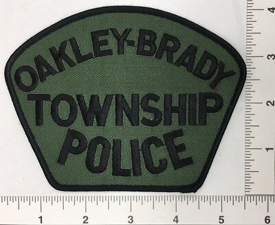 Oakley-Brady Township Michigan Police Patch