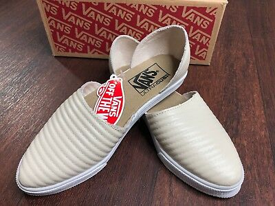 Vans Slip On Skimmer Moto Leather Birch Women s Shoes Size 5.5  EUR 35 NWB  sale 2418a0ce5