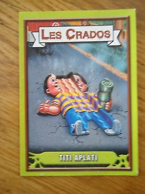 Image * Les CRADOS 3 N°94 * 2004 album card Sticker FRANCE Garbage Pail Kid