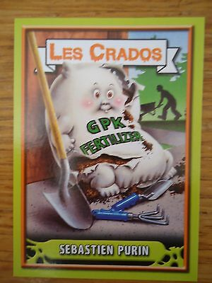 Image * Les CRADOS 3 N°58 * 2004 album card Sticker FRANCE Garbage Pail Kid