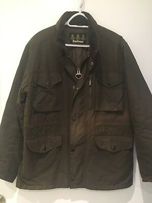 Barbour Men's Classic Waxed Cotton Jacket, Quilted Interior, Size M