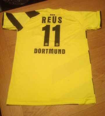 BORUSSIA DORTMUND REUS Football SHIRT SIZE 176 YOUTH BOYS SMALL MAN Trikot Hemd