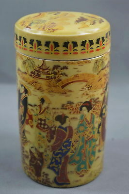 Chinese Collectable Decor Porcelain Painting Classical belle Noble Storage Pot