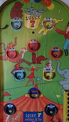 Vintage Poosh-M-Up Four Game Pinball Lucky 7