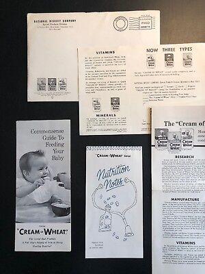 Vintage 1965 Nabisco Cream of Wheat National Biscuit Company Cereal Nutrition