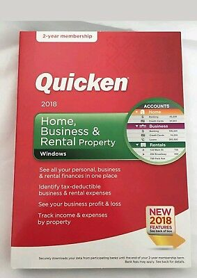 NEW SEALED QUICKEN Home Business Rental Property 2018 2-YEAR MEMBERSHIP (WIN)